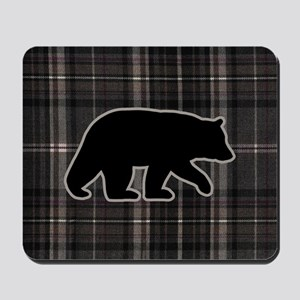 bearplaidpillowdrk Mousepad